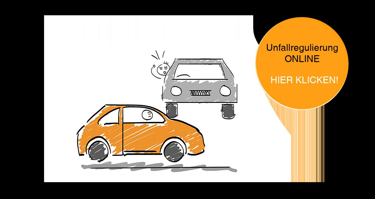 Fachanwalt Verkehrsrecht Krefeld, Anwalt Verkehrsrecht, Karikatur Unfall